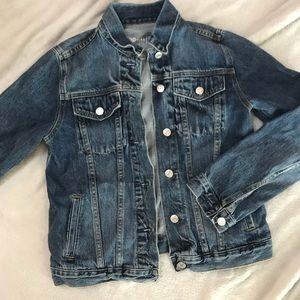 Gap Denim moto jean jacket size M